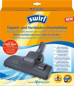 Brosse multifonction pour tapis et sols durs Swirl®