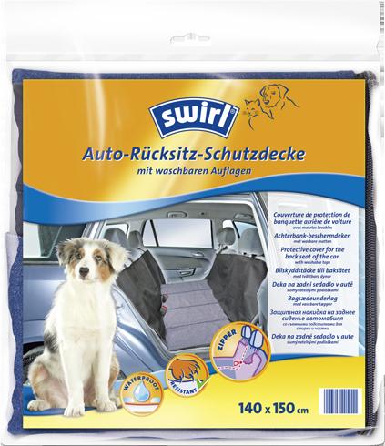 Auto-Rücksitz-Schutzdecke mit waschbaren Auflagen