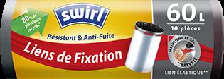 Sacs poubelle à fixation élastique