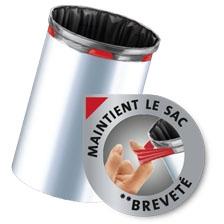 Sacs poubelle avec cordon élastique de fixation